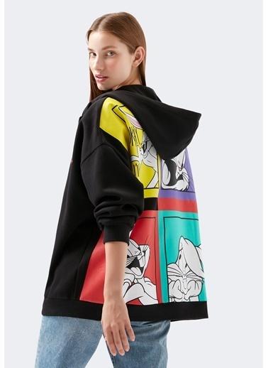 Mavi Kadın  Bugs Bunny Baskılı Sweatshirt 1600441-900 Siyah